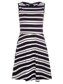 Stripe Bow Back Dress
