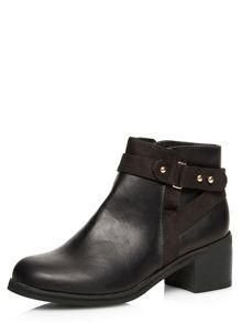 Square Toe Boots With Buckles