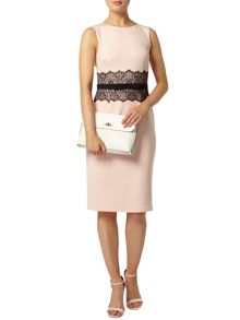 Lace Waist Pencil Dress