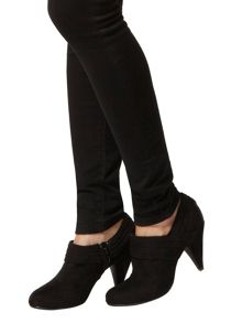 Suedette Ruched Heel Boots