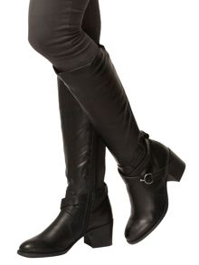 Elasticated Back Knee High Boots