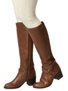 Block Heel Knee Boots