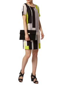 Billie Black Label Block Print Shift Dress