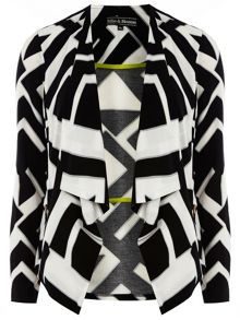 Billie Black Label: Zig-Zag Print Waterfall Jacke