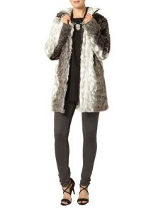 Dorothy Perkins Animal Print Faux Fur Coat