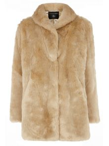 Plush Collar Coat