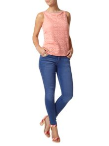 Petite Lace Embellished Shell Top