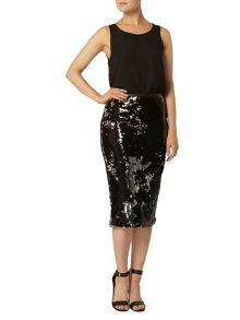 Dorothy Perkins Two Tone Sequin Pencil Skirt