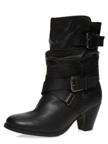 Western Heel Slouchy Boots