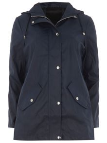 Lightweight Coated Parka Jacket