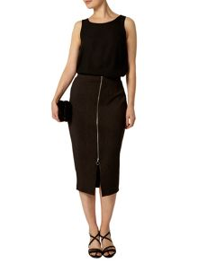 Animal Zip Front Scuba Skirt
