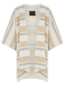 Dorothy Perkins Striped Cape Coat
