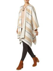 Striped Cape Coat