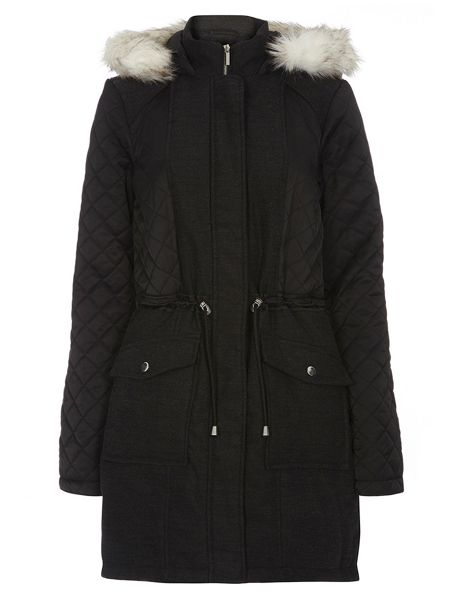 Dorothy Perkins Twill Quilted Parka