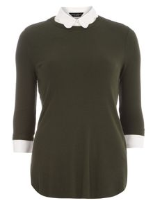 Scallop 2 in 1 Jersey Top