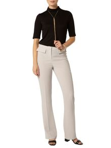 Patch Pocket Flared Trousers