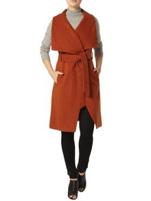 Dorothy Perkins Sleeveless Wrap Coat