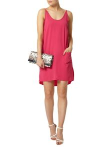 Pink Hi-Lo Cami Shift Dress