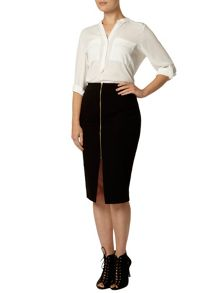 Bengal Zip Pencil Skirt