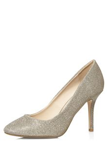 Sparkle Almond Toe Court Shoes