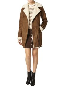 Tall Faux Shearling Coat