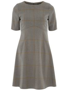 Windowpane Skater Dress