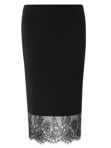 Dorothy Perkins Lace Hem Tube Skirt