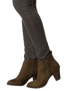 Dorothy Perkins Suedette Heeled Western Boots