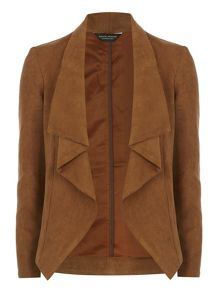 Suedette Waterfall Jacket