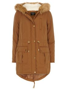 Dorothy Perkins Faux Fur Hooded Parka