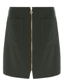 Dorothy Perkins Zip Front A-Line Skirt