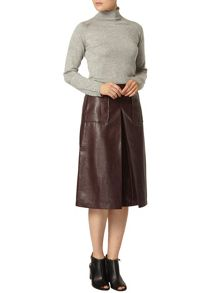 Croc Effect Pu Pencil Skirt