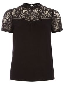 Lace Detail Sleeveless Jersey Top