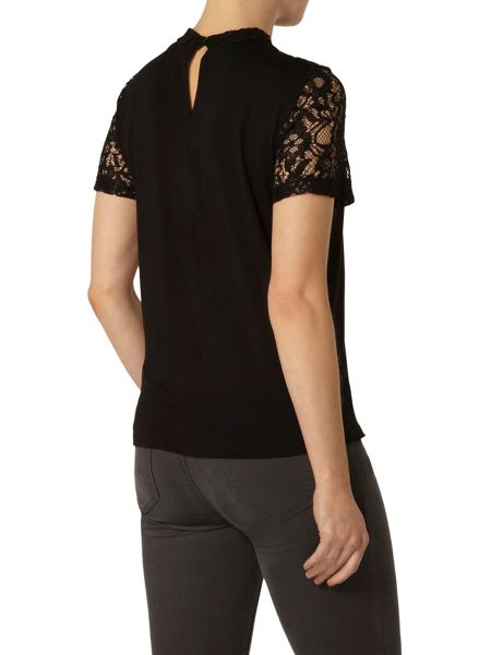 Dorothy Perkins Lace Detail Sleeveless Jersey Top