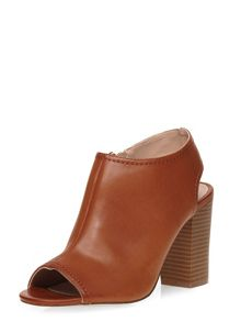 Dorothy Perkins Sofia Peep Toe Sling Back High Heels