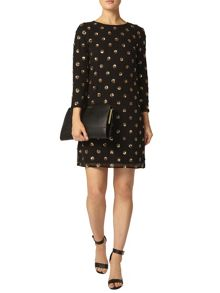 Dorothy Perkins Sequin Spot Shift Dress