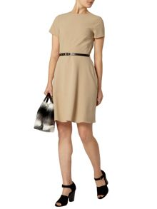 Dorothy Perkins Belted Fit And Flare Dress