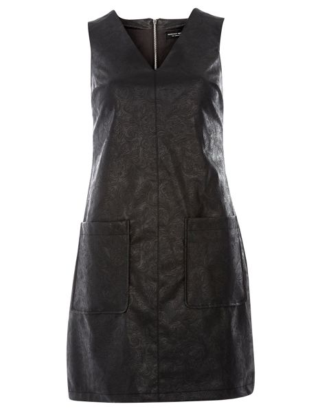 Dorothy Perkins Pu Embossed Dress