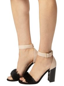 Dorothy Perkins Fur Detail Sandals