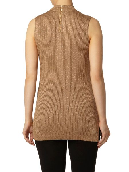 Dorothy Perkins Long Line Sparkle Shell Top