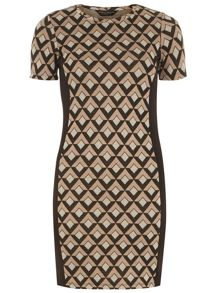 Dorothy Perkins Geo Panel Bodycon Dress