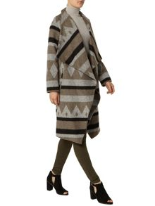 Dorothy Perkins Waterfall Aztec Print Coat