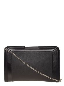 Panelled Structured Clutch Bag