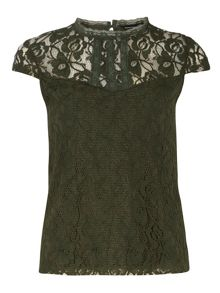 Lace Front Victoriana Top