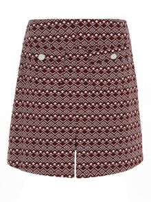 Diamond Textured A Line Skirt