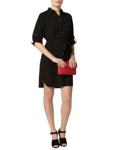 Dorothy Perkins Collar Shirt Dress With Front Button Detail
