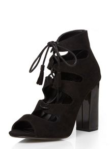 Dorothy Perkins Lace Up Block Heel Shoe Boots