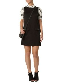 Petite Ponte Pinafore Dress