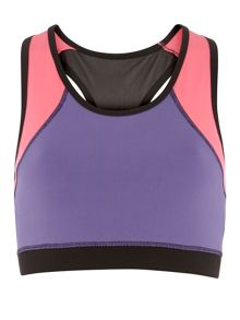 Racer Back Aerobic Bra With Breathable Mesh