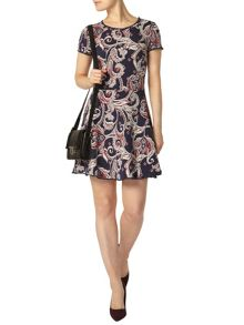 Dorothy Perkins Paisley Pompom Trim Dress